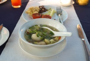 Soup with Fish Balls that had the classic Fish Broth flavour.