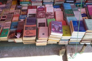 Second Hand Books.  A country that has not yet converted to the Kindle.