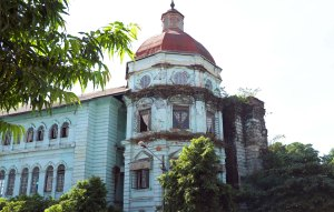 Despite the dilapidated appearance, a building still in use.