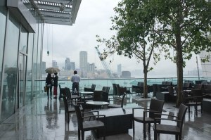 After the storm:  check out the rooftop gardens of the IFC Mall.